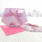 Invitatie botez pampers roz 15503