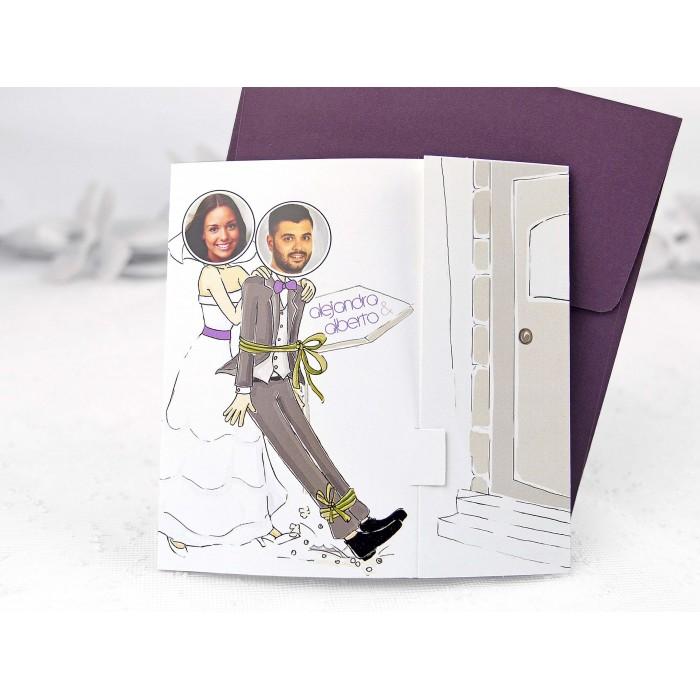 Invitatii Nunta Haioasa Poza Mirilor 35695
